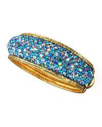 Jose & Maria Barrera - Pave Crystal Bracelet Blue - Lyst
