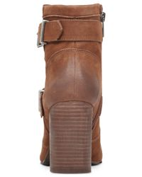 Vince Camuto - Brown Simlee Buckle Booties - Lyst