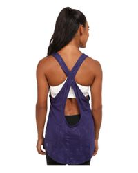 PUMA - Blue Wt Mesh It Up Layer Tank Top - Lyst