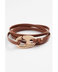 Miansai | Brown Brummel Hook Leather Bracelet for Men | Lyst
