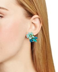 kate spade new york - Blue Glossy Petals Cluster Stud Earrings - Lyst