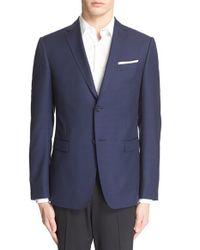 Z Zegna - Blue Trim Fit Houndstooth Wool Sport Coat for Men - Lyst