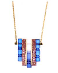 Lily Kamper - Metallic Multicolour Atlas Pendant Necklace - Lyst
