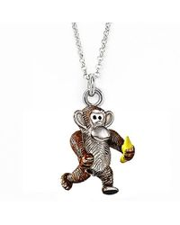 Jan Leslie | Metallic Monkey And Banana Pendant / Charm Necklace | Lyst