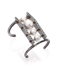 Lanvin - Metallic Azov Statement Cuff Bracelet - Lyst