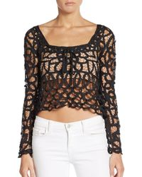 Stone Cold Fox | Black Colorado Crop Top | Lyst