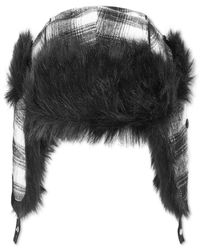 Sean John | Black Men's Plaid Faux-fur-lined Trapper Hat for Men | Lyst
