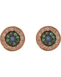 Ileana Makri | Metallic Multi Gemstone & Pink Gold no Tears Studs | Lyst