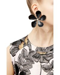 Rosie Assoulin | Black Enamel Single Flower Earring | Lyst