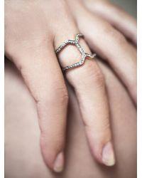 Vanessa Mooney | Metallic Caged Stone Ring | Lyst