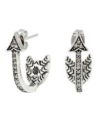 House of Harlow 1960 - Metallic Arrow Affair Huggies Earrings - Lyst