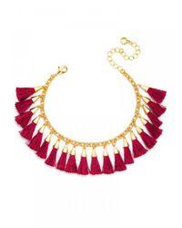 BaubleBar | Red Festival Tassel Bracelet-maroon | Lyst
