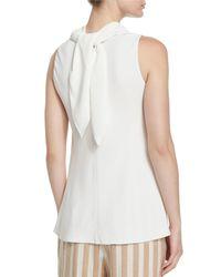 The Row - White Piona Silk Cady Bandana-neck Top - Lyst