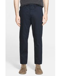 Norse Projects - Blue 'aros' Heavyweight Cotton Chinos for Men - Lyst