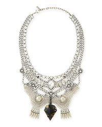 DANNIJO | Metallic Crystal Bib Necklace | Lyst
