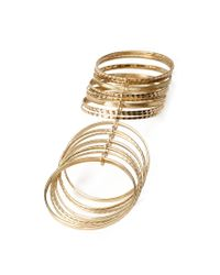 Forever 21 | Metallic Textured Bangle Set You've Been Added To The Waitlist | Lyst