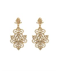 Oscar de la Renta | Metallic Russian Gold Filigree Earrings | Lyst
