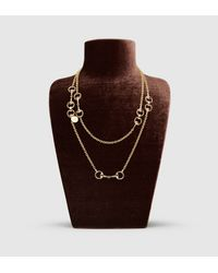 Gucci | Yellow Horsebit Necklace | Lyst