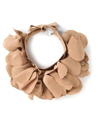 Brunello Cucinelli | Natural Layered Petal Necklace | Lyst