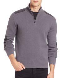 Victorinox | Gray Lieutenant Quarter-zip Pullover Sweater for Men | Lyst