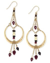 The Sak - Metallic Gold-tone Bead And Chain Accent Drop Earrings - Lyst