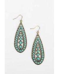 Urban Outfitters | Blue Turquoise Teardrop Earring | Lyst