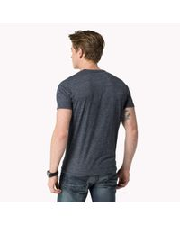 Tommy Hilfiger | Blue Cotton Blend Printed T-shirt for Men | Lyst