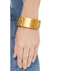 Acne Studios - Metallic Elin Bracelet - Gold - Lyst
