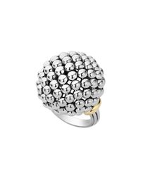 Lagos | Metallic Caviar Forever Large Dome Ring | Lyst