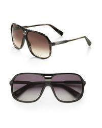 Marc Jacobs - Brown Plastic Shield Sunglasses for Men - Lyst