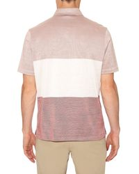 Dunhill - Pink Contrast Stripes Polo Shirt for Men - Lyst