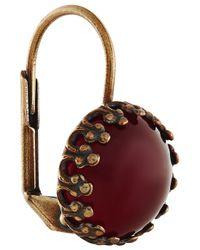 Isabel Marant | Purple Hiro Brass Cabochon Earrings | Lyst