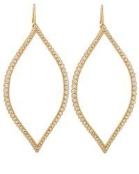 Jamie Wolf - Metallic Gold Diamond Open Marquis Leaf Earrings - Lyst