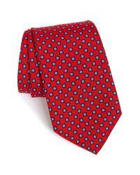 JZ Richards | Red Medallion Silk Tie for Men | Lyst