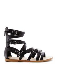 Dolce Vita | Black Okena Strappy Leather Sandals | Lyst
