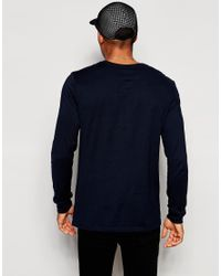 Nike | Blue Long Sleeve T-shirt With Embroidered Swoosh 715379-475 for Men | Lyst