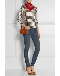 Saint Laurent - Blue Striped Cotton-Jersey Top - Lyst