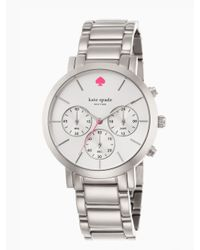 kate spade new york | Gray Gramercy Grand Chronograph | Lyst