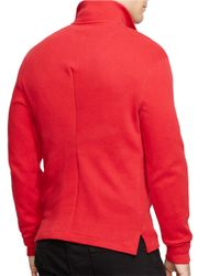 Polo Ralph Lauren   Red French-rib Half-zip Pullover for Men   Lyst