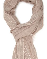 Forever 21 | Brown Sparkling Knit Scarf | Lyst