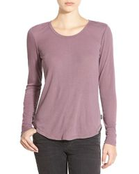 RVCA - Purple Long Sleeve Knit Top - Lyst