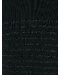 Balmain - Black Striped Turtle Neck Sweater for Men - Lyst