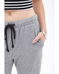 Forever 21 - Gray Heathered Drawstring Joggers - Lyst