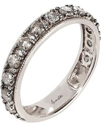 Annoushka - Gray Dusty Diamonds 18ct White-gold And Diamond Eternity Ring - Lyst