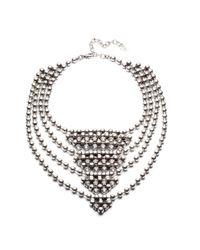 DANNIJO | Metallic Elizabeth Necklace | Lyst