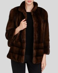 Maximilian - Brown Bell Sleeve Mink Coat - Bloomingdale's Exclusive - Lyst