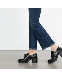 Zara | Black Track Sole Bluchers | Lyst