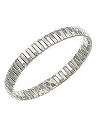 Chimento - Metallic 18k White Gold Armillas Collection Ridge Line Bracelet - Lyst