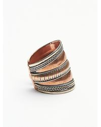 Free People - Pink Womens Relic Ring - Lyst