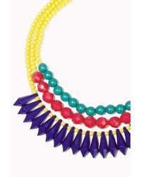 Forever 21 - Yellow Layered Colorblock Necklace - Lyst